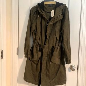 Brand New Long Hooded Trench Coat